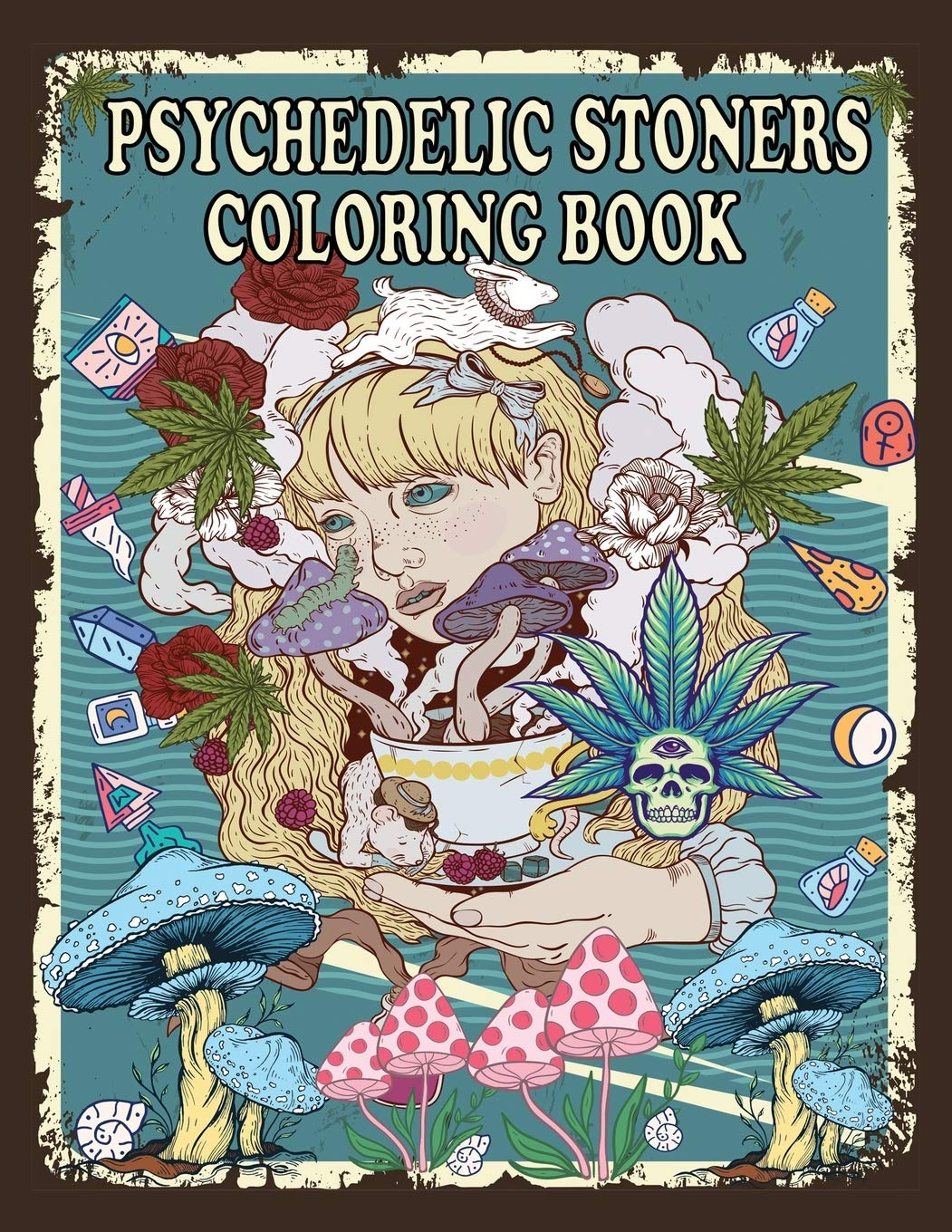- Amazon.com: Psychedelic Stoners Coloring Book: An Adult Coloring