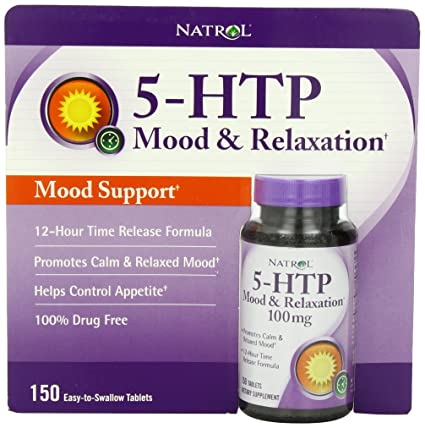 Natrol 5-HTP Mood Enhancer, 100mg, 150 Tablets by Natrol