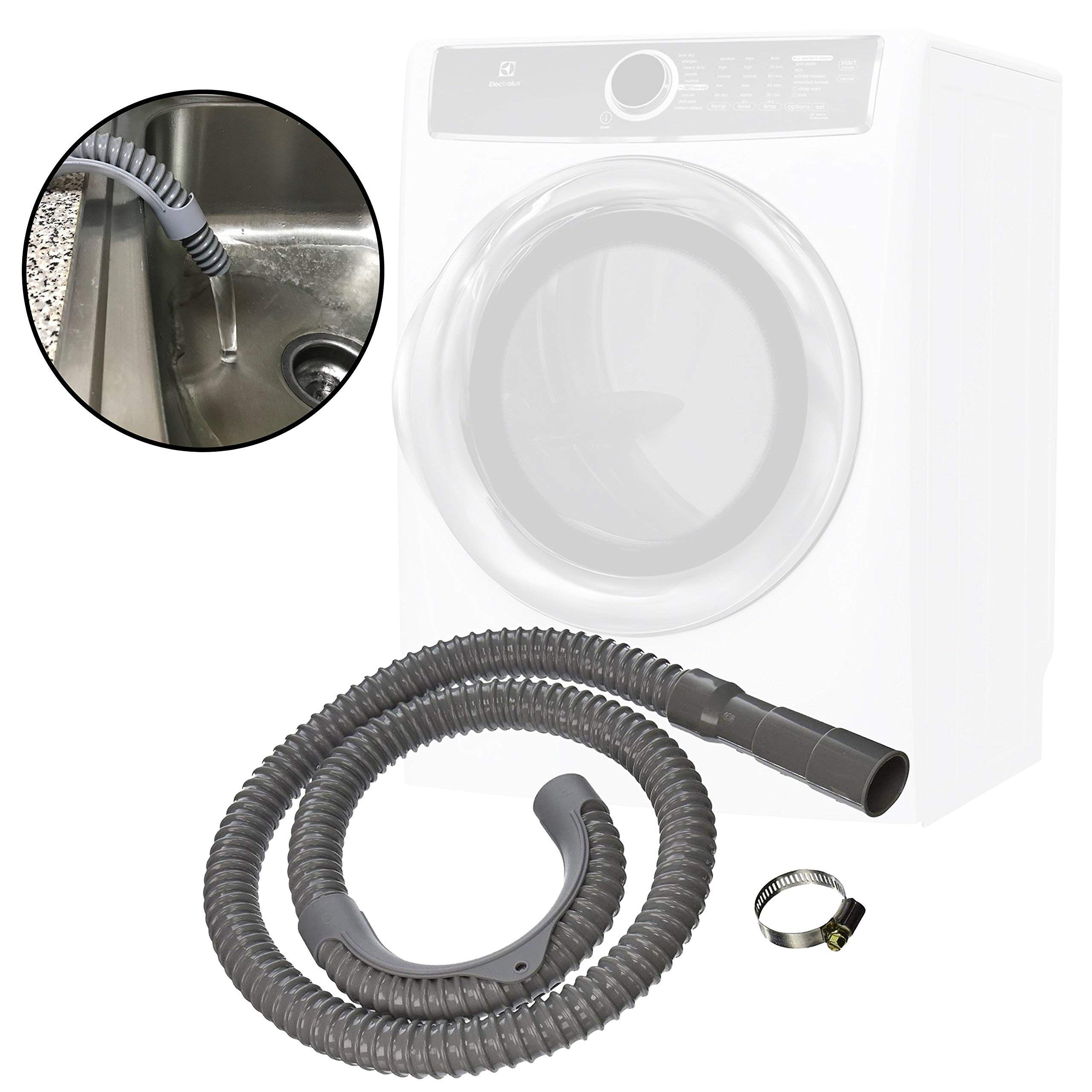 QUALITY-HOSES Washer Discharge Hose 12ft-long by QUALITY-HOSES