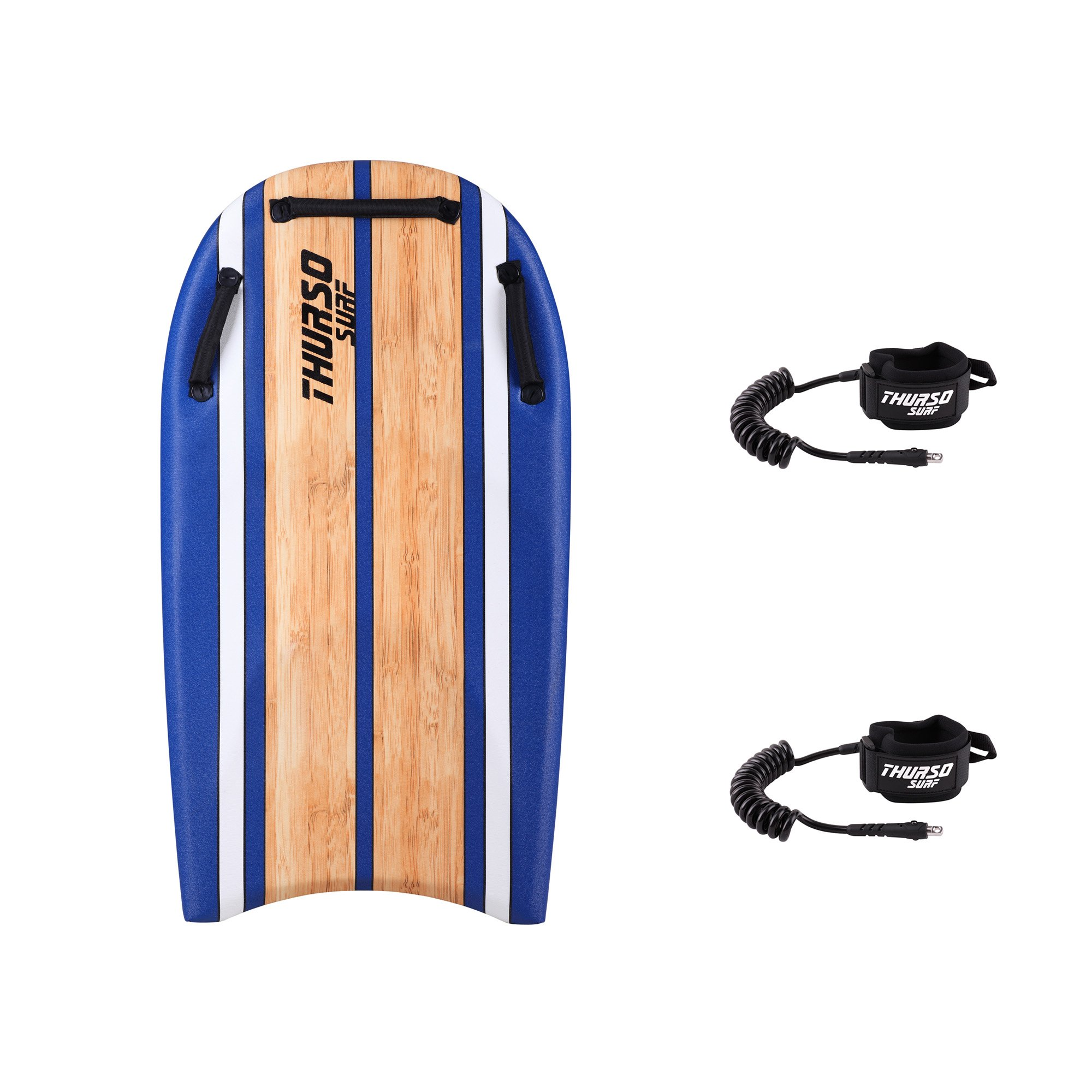 THURSO SURF DuoSlider 42'' Bodyboard With Handles Two Person EPS Core IXPE Deck HDPE Slick Bottom Includes Two PRO Double Swivels Bodyboard Leashes