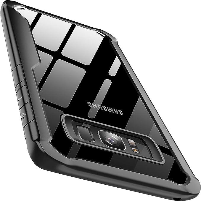 ORETECH Funda Samsung S8, Carcasa Funda Galaxy S8 con [Tecnología de cojín de Aire] Gel Suave Silicona TPU y Funda Trasera Transparente Funda para Samsung S8-Negro: Amazon.es: Electrónica