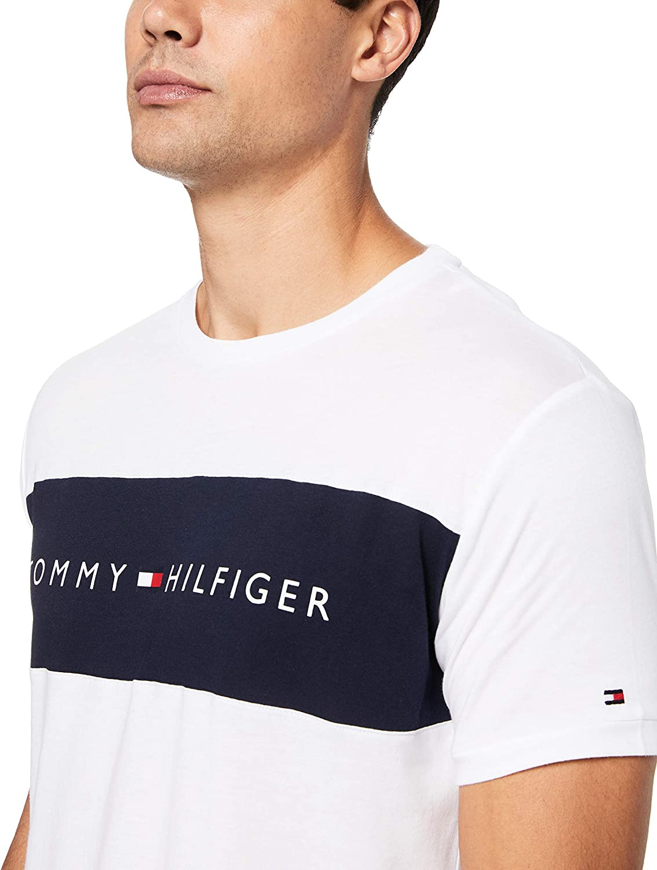 Tommy Hilfiger CN SS Tee Logo Flag Maglietta Uomo