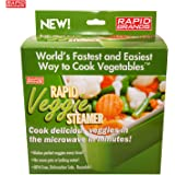 Rapid Veggie Steamer - Microwave Fresh or Frozen Vegetables in 4 Minutes or Less - BPA Free and Dishwasher Safe