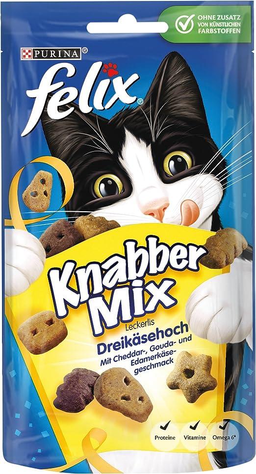 Felix Golosinas para Gatos Knabber Mix, Pack de 8 (8 Paquetes de ...