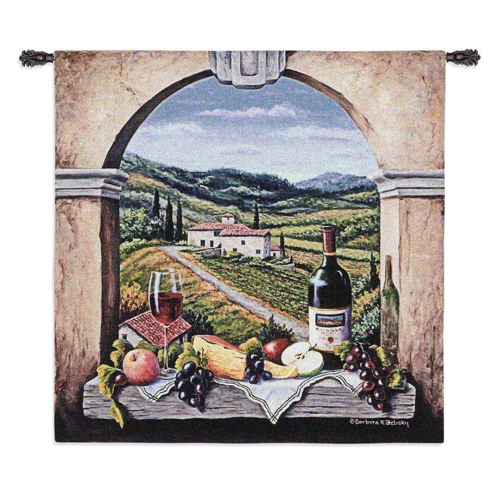 Fine Art Tapestries ''Vineyard Road'' Wall Tapestry