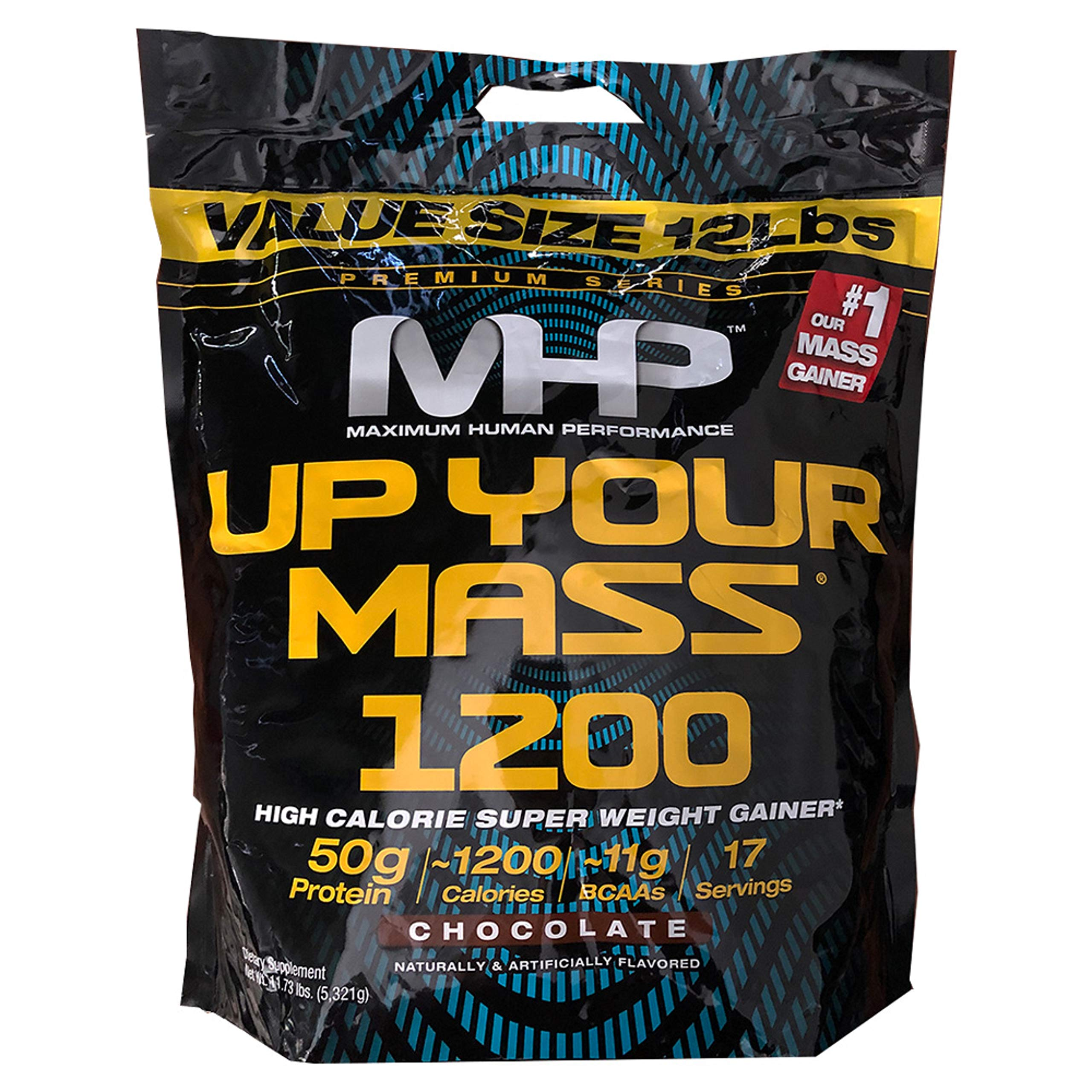 MHP Up Your Mass Super Weight Gainer Value Size 12 Lbs. Chocolate