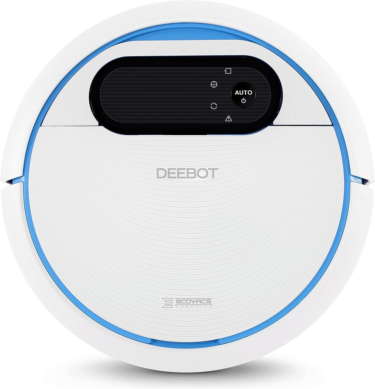 ECOVACS ROBOTICS DEEBOT 300 - El Robot de limpieza de suelos con depósito de agua para limpiar en seco y húmedo (optimizado para cabello de mascota), azul/blanco: Amazon.es: Hogar