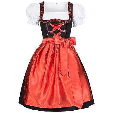 Gaudi-Leathers Dirndl Iwona Traje Tradicional de Tirolesa Vestido ...