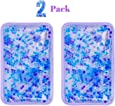 """Hot and Cold Gel Bead Ice Pack (2-Pack) by FOMI Care   Lavender Scented   Reusable Cold Wrap, Cold Compress & Heating Pad   Freezable, Microwavable   Fabric Backing (7.5"""" x 4.5"""")"""