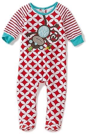 95e0d90b2a807 Amazon.com: Mud Pie Baby-Boys Newborn Safari Monkey Sleeper Footie ...