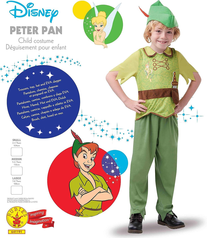 Disney - Disfraz de Peter Pan para niños, infantil 3-4 años ...