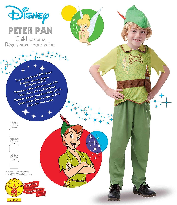 Disney - Disfraz de Peter Pan para niños, infantil 5-6 años ...