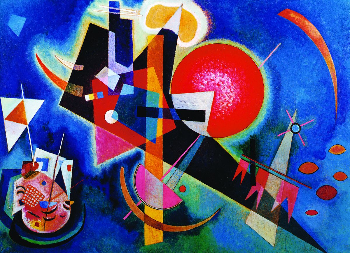 Amazon.com: EuroGraphics In Blue by Kandinsky 1000 Piece Puzzle ...
