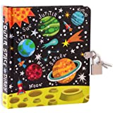 """MOLLYBEE KIDS Outer Space 6.25"""" Lock and Key Diary for Boys and Girls, 208 Lined Pages"""