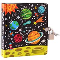 MOLLYBEE KIDS Outer Space Lock and Key Diary for Kids