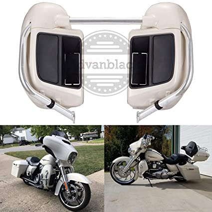 US STOCK! Advanblack Morocco Gold Pearl Lower Vented Fairings Kit Glove Box  Fit for Harley Davidson Touring Street Glide Road Glide Road King 2014