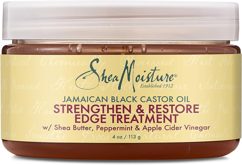SheaMoisture Jamaican Black Castor Oil Strengthen, Grow & Restore Edge Treatment - acondicionadores (Grow & Restore Edge Treatment, Unisex, Profesional, Fortalecimiento, Glycerin (Vegetable),