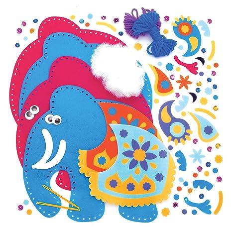 Baker Ross Kits Costura Ambari Elefante Cojín (Paquete de 2 ...