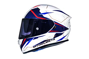 Casco Mt Helmeth KRE SV INTREPID B2 Brillo Blanco y Rojo (XS)