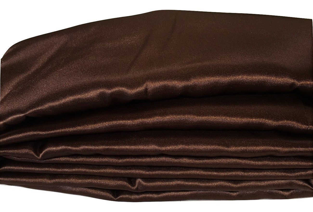 Dark Chocolate Brown Satin Fabric Cord Cover Handmade Variety of Sizes Up to 14 Feet