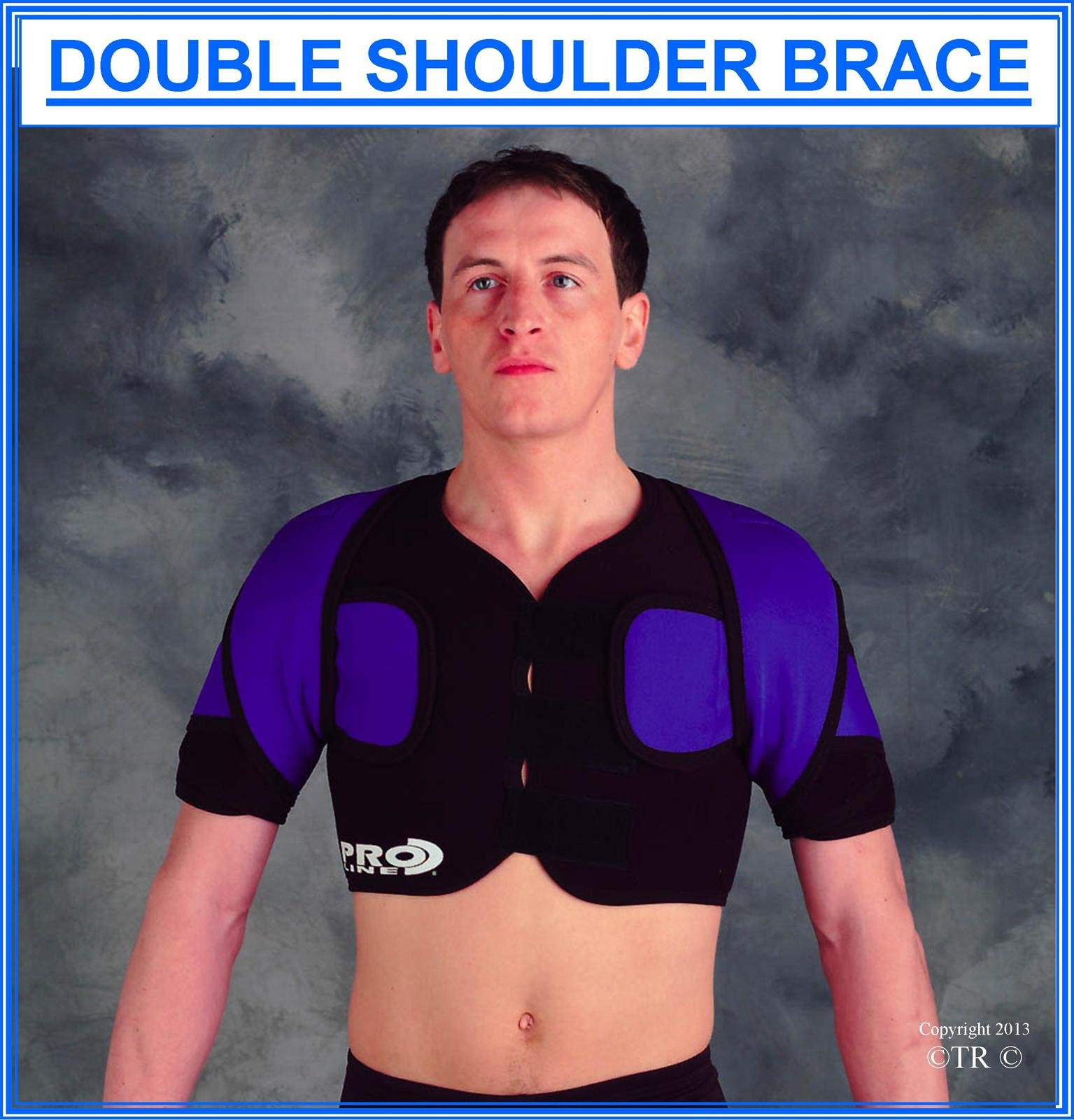 Proline Double Shoulder Brace - Black - Small/Medium