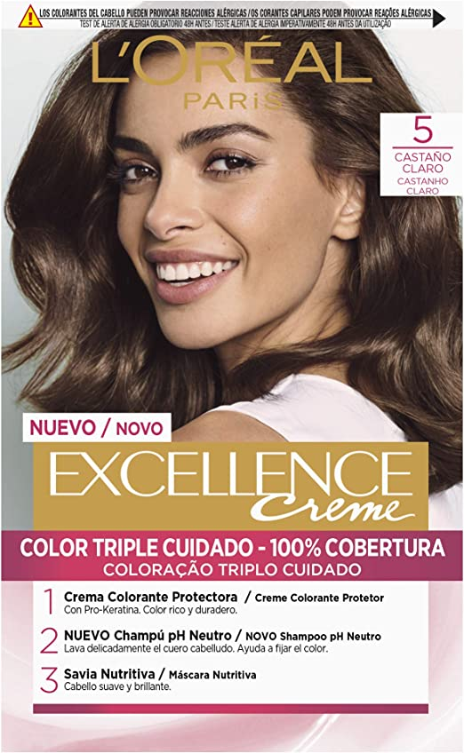 LOréal Paris Excellence Creme Tinte Tono 5 Castaño Claro ...