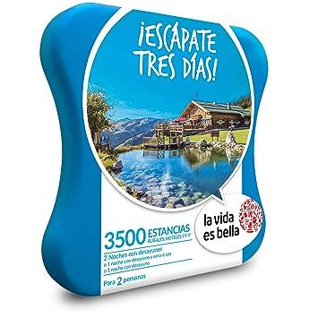 La vida es bella - Caja Regalo - ¡ESCÁPATE Tres DÍAS! - 3500 estancias Rurales y hoteles de hasta 4*: Amazon.es: Deportes y aire libre
