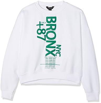 Blanc white Bronx 10 Nyc Fille 10 11 New Shirt 87 Sweat Look 6pEnq80