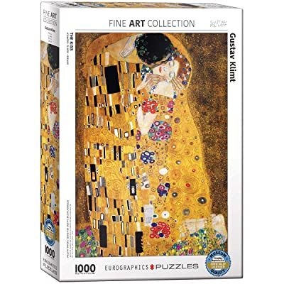 Gustav Klimt The Kiss 1000 Piece Jigsaw Puzzle by Eurographics: Toys & Games [5Bkhe1103052]