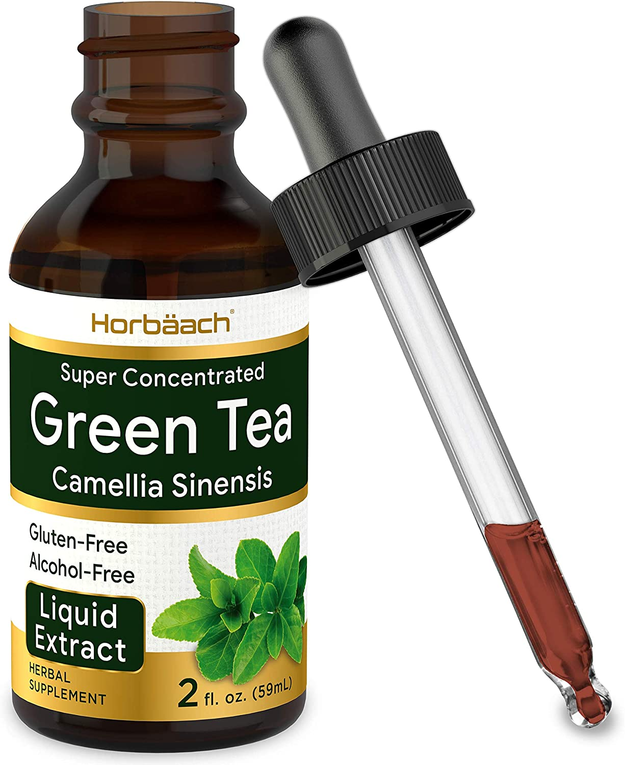 Green Tea Extract | 2 fl oz | Super Concentrated Liquid Supplement | Alcohol Free, Vegetarian, Non-GMO, Gluten Free | by Horbaach: Health & Personal Care