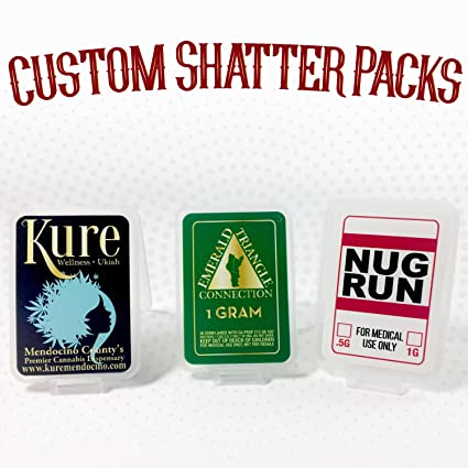 Amazon com : 100 Shatter Labels Custom Concentrate Shatter