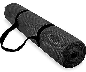 Spoga 1/4-inch Antideslizante Ejercicio Yoga Mat con Correa ...