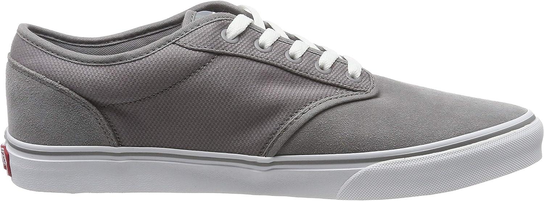 Vans ATWOOD TEXTILE SUEDE, Men Low-Top Trainers Grey Textile Suede