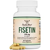 Fisetin Capsules - 100mg, 60 Count (Natural Bioflavonoid Polyphenols Supplement Similar to Apigenin, Luteolin, and…
