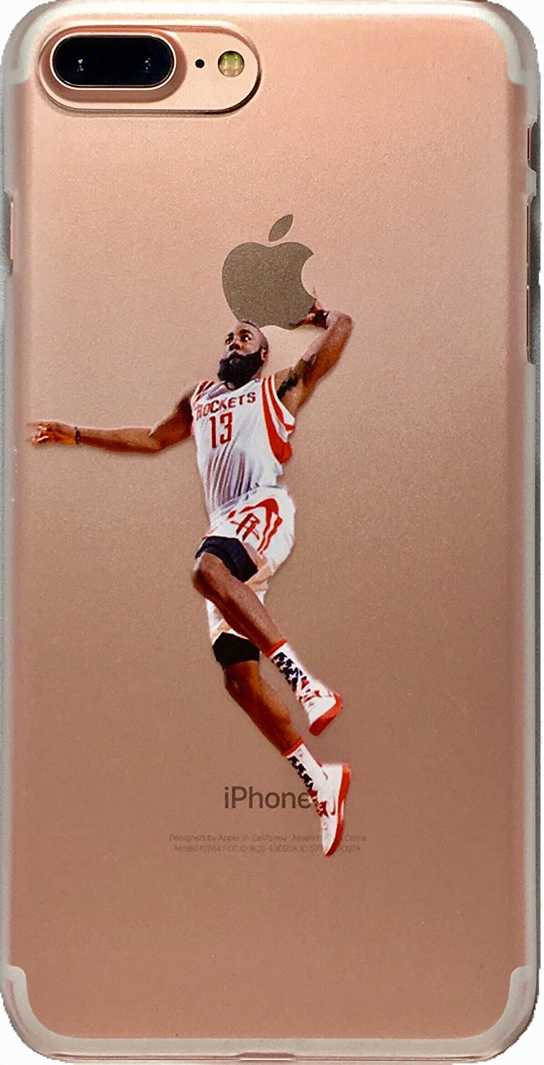 bb85e46feeb28 Soft TPU Basketball Case with Your Favorite Past and Present Players  (Harden Dunk, iPhone 7 and 8)