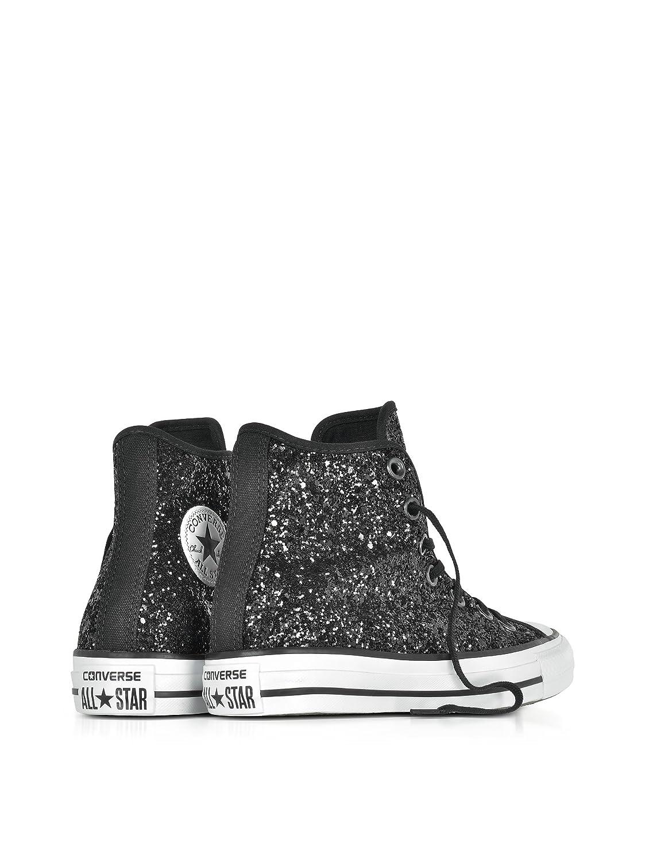 Converse Damen 553137C Schwarz Glitzer Hi Top Sneakers