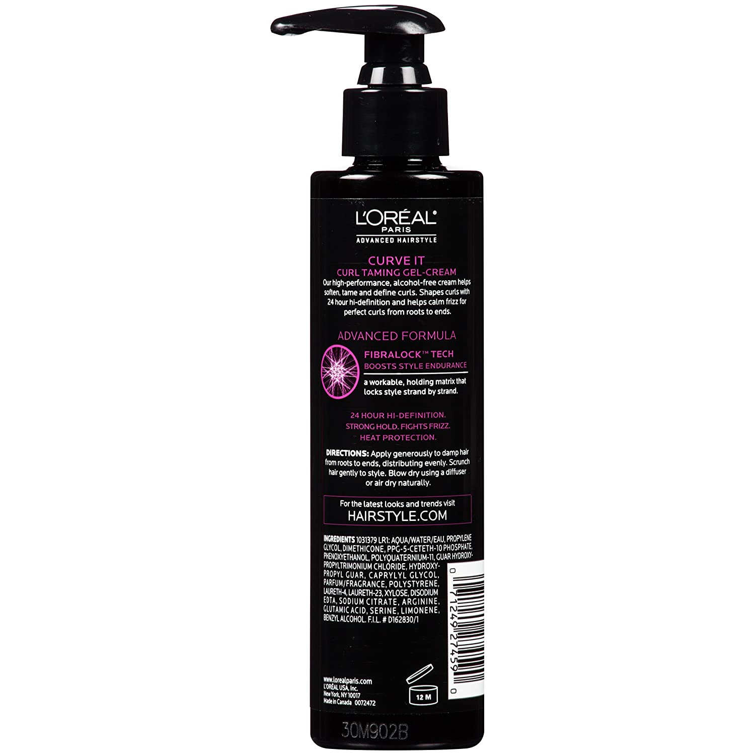 L Or al Paris Advanced Hairstyle CURVE IT Curl Taming Gel Cream, 6.8 fl. oz.