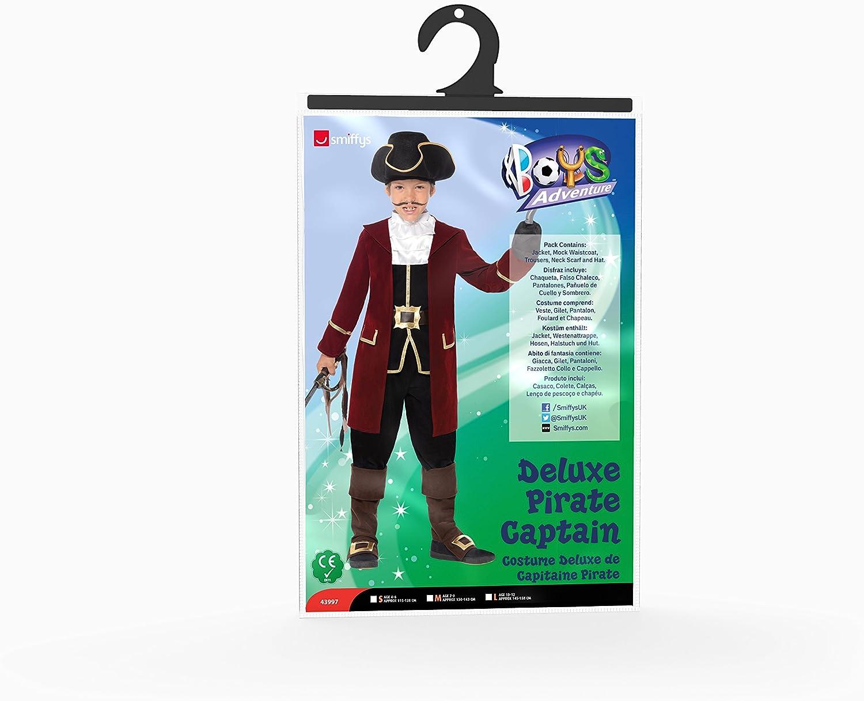 Smiffys - Traje de capitán Pirata, Color Negro (43997M): Smiffys ...