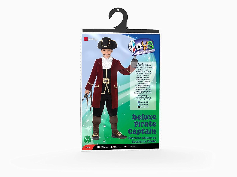 Smiffys - Traje de capitán Pirata, Color Negro (43997M)
