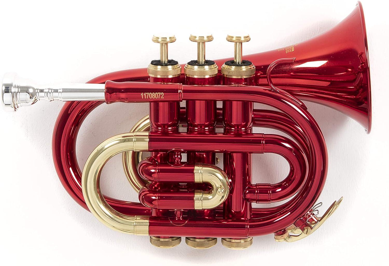 Roy Benson RB701004 - Trompeta Pocket, estuche ligero rectangular, color rojo: Amazon.es: Instrumentos musicales