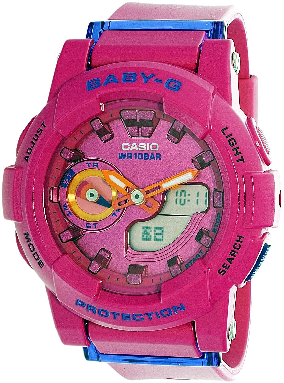 Casio Womens Baby G Bga185fs 4a Pink Rubber Quartz Ba 112 Sport Watch Watches