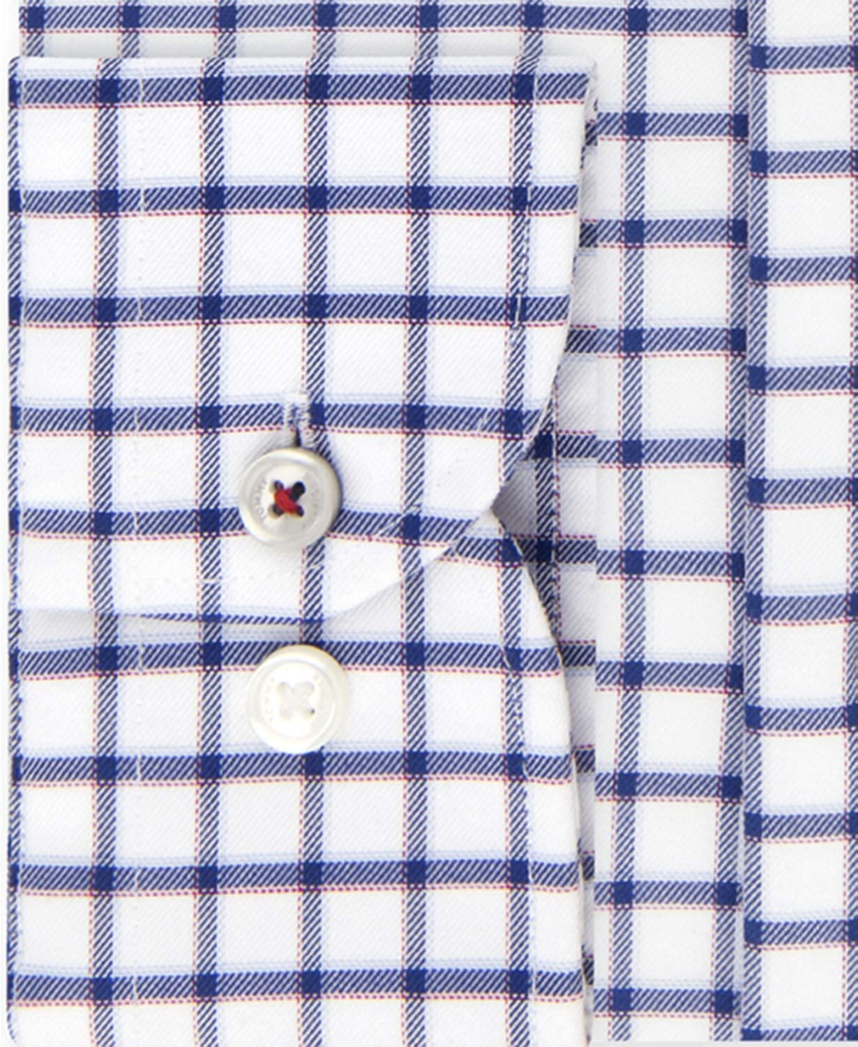 3d83df06 Tommy Hilfiger Men's Big and Tall Slim-Fit TH Flex Dress Shirt, Night Blue  Check, 17.5 35/36 at Amazon Men's Clothing store:
