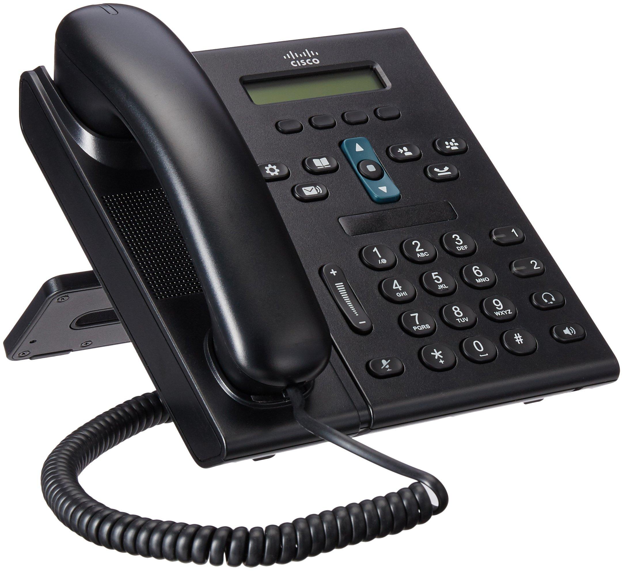 Cisco CP 6921  2-Line Office VoIP Phone (CP-6921-C-K9) (Renewed) by Cisco