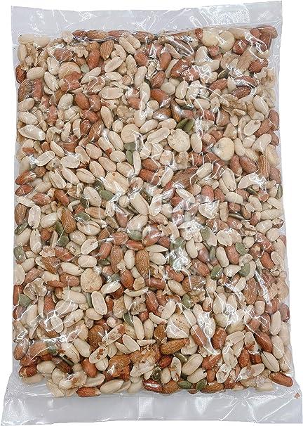 ミックスナッツ 6種(有塩)900g 落花生 皮付 皮なし くるみ アーモンド ジャンボコーン かぼちゃの種