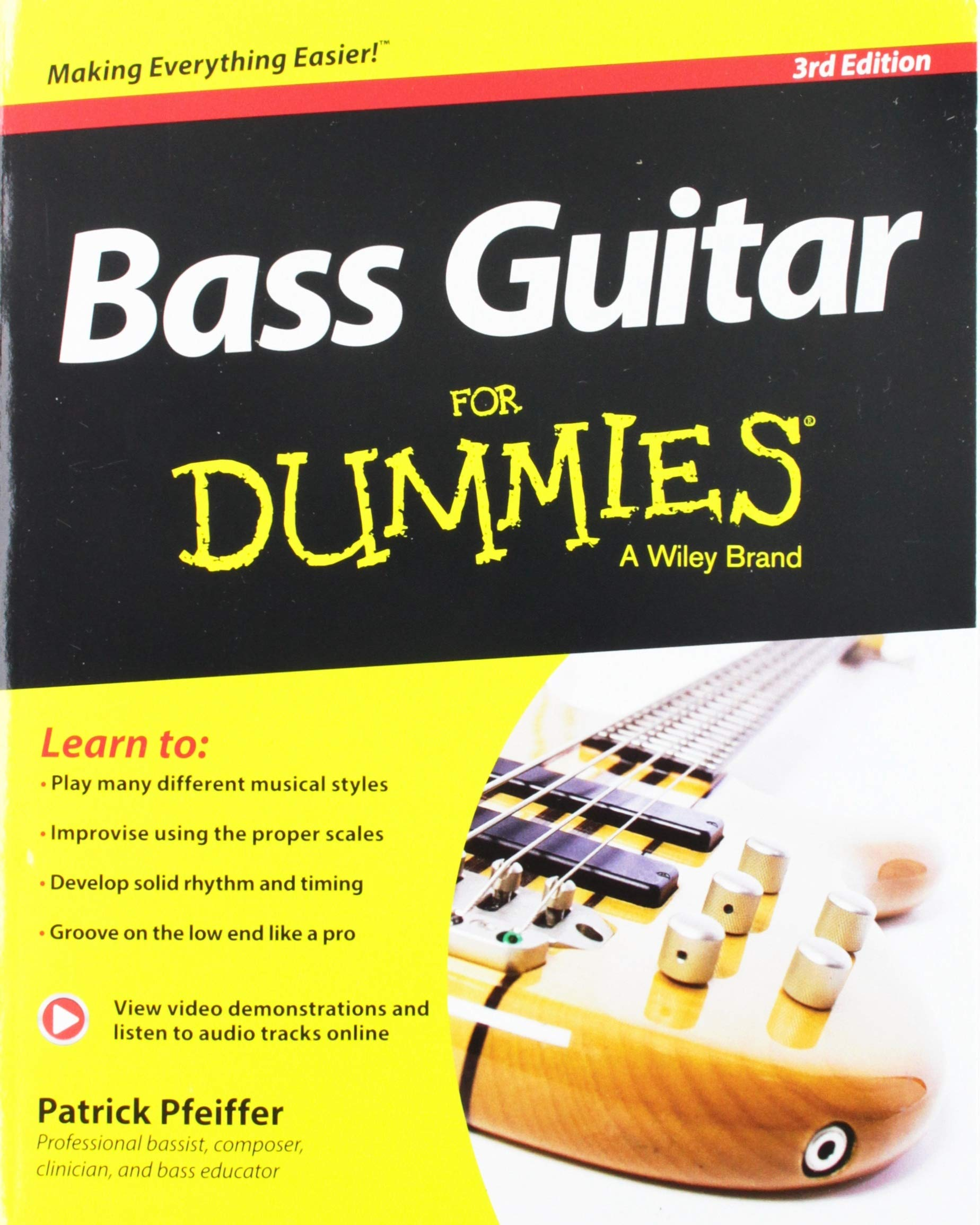Bass Guitar For Dummies, Book + Online Video & Audio Instruction (For  Dummies Series): Patrick Pfeiffer: 8601416785349: Amazon.com: Books