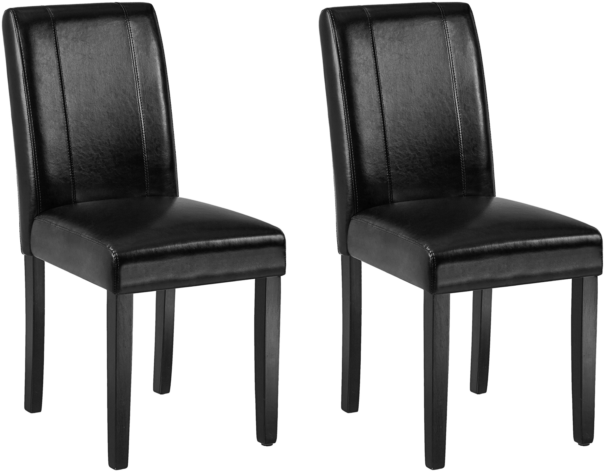 AmazonBasics Padded Dining Chair - Set of 2, Black
