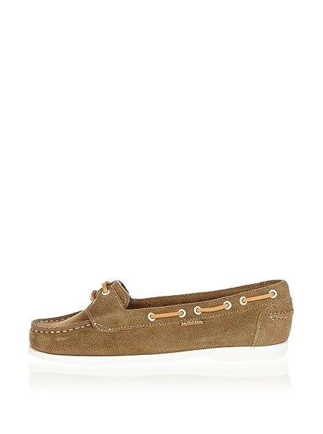 US Polo Assn - Mocasines de Terciopelo para Mujer, Color Beige, Talla 37.5: Amazon.es: Zapatos y complementos
