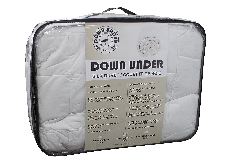 Down Under Washable Oversized King Long Strand Silk Duvet Comforter Blanket 70 oz CHFI
