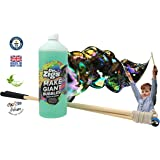 Giant Bubbles Starter Kit for Children by Dr Zigs. Set of Short Wooden Wands & Giant Bubble Rope. 1 Litre Giant Bubble Solution. Fun Outdoor Garden Toy. Ages 3+ Educational Game Activity. Made in UK