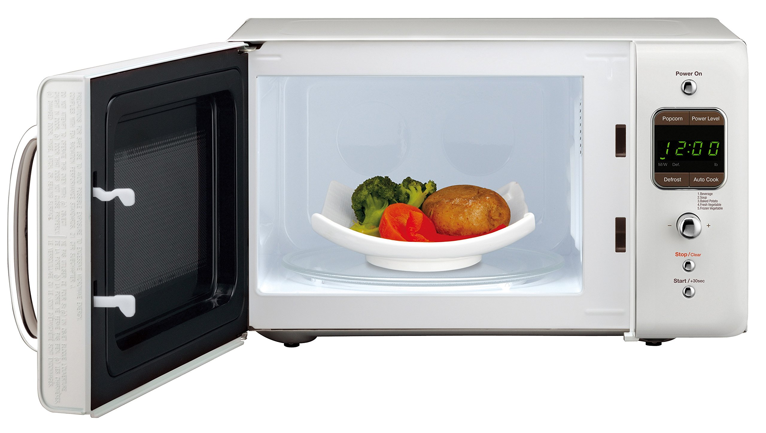Daewoo 50s Retro Style 0 7 Cu Ft Countertop Microwave Oven